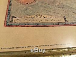 1651 New And Accurat Map Of The World Reproduced by Hammond Corp Authentic Color