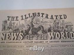 1851 The Illustrated News Of The World 8 Pages 16 X 11 Tb M