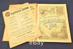 1890AntiqueLos Angeles TimesNew Standard ATLAS of the WorldOriginal