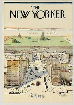 1976 Saul Steinberg A VIEW OF THE WORLD FROM NINTH AVENUE the New Yorker POSTER