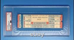1977 Queen News of the World Full Concert Ticket PSA Graded