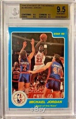 1986 Star Best Of The New World Michael Jordan #2 BGS 9.5 GEM MINT Chicago Bulls