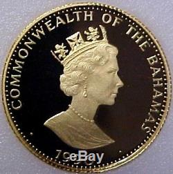 1990 Bahamas $200 Dollar Gold Coin Discovery of the New World 1/5000 GEM PROOF