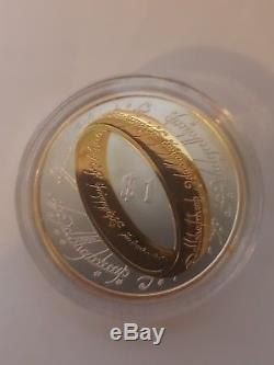 2003 New Zealand Lord of The Rings $1 Silver Proof Dollar Coin STERLING GEM