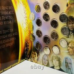 2003 New Zeland Lord Of The Rings 18 X 50c Uncirculated Coin Set Original Folder