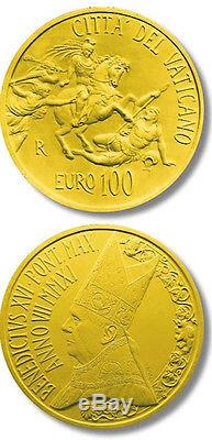 2011 vatican 100 euro gold the Stanze of Raphael The Room of Heliodorus new