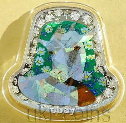 2015 Tanzania Lunar Year of the Goat Silver Colored Hologram Coin New Zealand