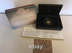 2018 $100 Gold Proof Domed Coin 1626 A New Map Of The World Ram Coa #316 Ram