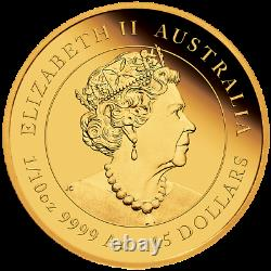 2022 Australian Lunar Year of the Tiger 1/10 oz Gold Proof $15 Coin NEW Series-3