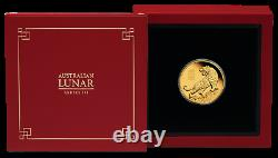 2022 Australian Lunar Year of the Tiger 1/4 oz Gold Proof $25 Coin NEW Series-3