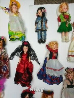 22 Vintage 1960s Arco Plastic Dolls of the World Lot New Without Box Ireland