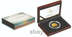 34893 2018 $100 Gold Proof Domed Coin 1626 A New Map Of The World Ram