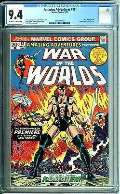 AMAZING ADVENTURES 18 CGC 9.4 WAR OF THE WORLDS H G WELLS 1st KILLRAVEN NEW CASE