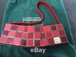 AUTH BARRY KIESELSTEIN-CORD Women Of The World Burgundy Handbag New