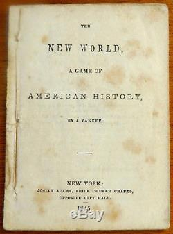 Antique 1845 Card Game by JOSIAH ADAMS THE NEW WORLD GAME OF AMERICAN HISTORY
