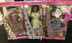 BARBIE Around the World Lot of 15 VTG 90's all NIB New Various Conditions Sealed