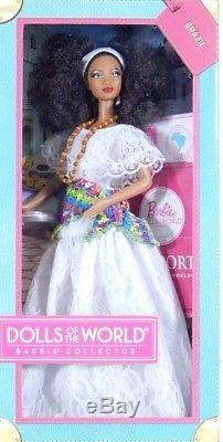 BARBIE BRAZIL DOLLS OF THE WORLD NRFB PINK LABEL new model collection Mattel