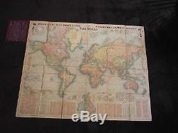 Bacon's New Chart of the World Mercators Projection G. W. Bacon London 1907