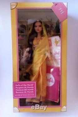 Barbie Dolls of the World Pink Label Collection India (Mattel, 2011) New