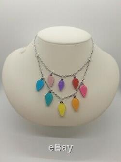 Brand New Erstwilder All Of The Lights Necklace & Light Of The World Brooch Set