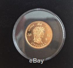 Brian May Queen GOLD sixpence guitar pick News Of The World 40th 2017