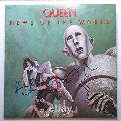 Brian May & Roger Taylor Signed QUEEN'News of the World' Vinyl EXACT Proof JSA
