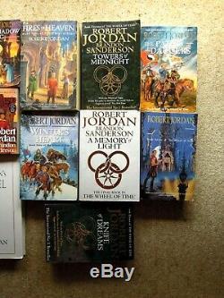 Comp. ROBERT JORDAN The Wheel of Time, + WORLD OF. 16 Books Most Like New