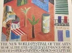 DAVID HOCKNEY Original Signed Exhibition The New World Festival of the Arts 1982