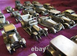 Danbury Mint Pewter Classic Cars of the World Collection/25 Cars New