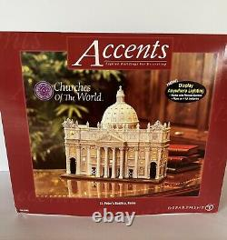 Dept 56 St. Peter's Basilica Rome Churches Of The World 57602 New In B0x