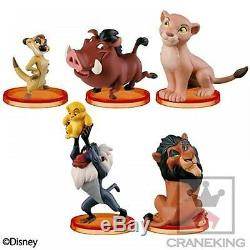 Disney WCF World Collectable Figure Story. 07 THE LION KING Complete Set of 7 NEW