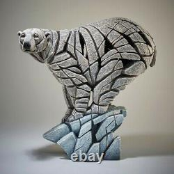 Edge Sculptures Polar Bear On Ice Symbolising The Effects Of Global Warming(New)