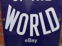 Enamel Sign News Of The World Antique Rare Original Collectable Advertising Sign