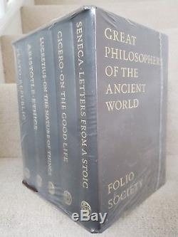 Folio Society Great Philosophers of the Ancient World 5-volume set leather NEW