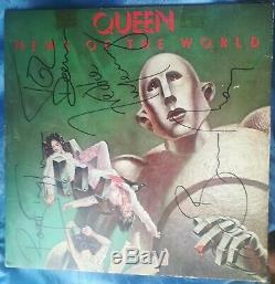 Freddie Mercury Queen Signed News Of The World Autographed Certificate