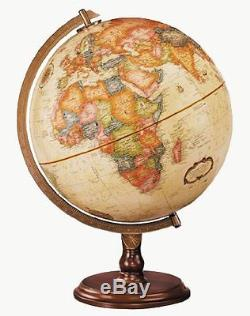 Globe of the World with Stand Antique Ocean Desktop Atlas 12-Inch Diameter New