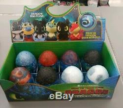 How To Train Your Dragon THE HIDDEN WORLD CASE OF 8 Plush Eggs New