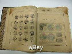 Johnson's New Illustrated Family Atlas of the World 1865 Civil War era maps
