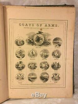 Johnson's New Illustrated Family Atlas of the World with Descriptions 1865
