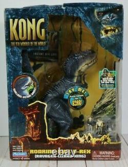 Kong 8th Wonder Of the World Roaring Bull V-Rex Ravager Lizard King Figure New