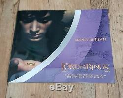 Lord Of The Rings Silver Proof 24 New Zealand Coin Collection In Wooden Case