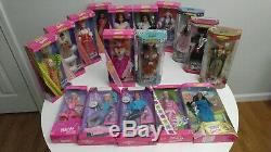 Lot 17 Barbie Dolls Of The World, Valentine, Olympic Skater Ken, New In Box