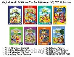 MAGICAL WORLD OF WINNIE THE POOH VOL 1 2 3 4 5 6 7 8 Complete New Region 2 DVD