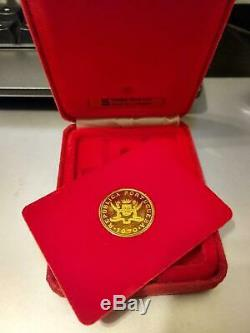 Macau 1979 500 Patacas Gold Coin Year of The Goat Withbox Only NewithUNC