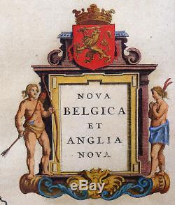 Map Of The New World Amerika Manhattan Nova Belgica Et Anglia Nova Tiere 1640
