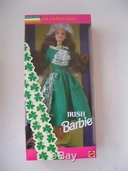 Mattel Barbie Dolls of the World-Irish-Chinese-Dutch-German-More New