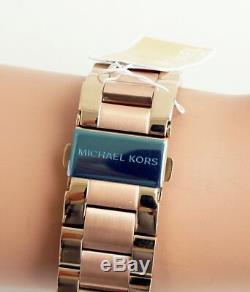 Michael Kors Watch Women's Mk6476 Layton Map of the World Rose Gold New