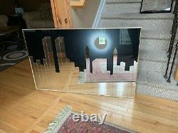 Mirrored wall picture of the New York City skyline with the World Trade Center