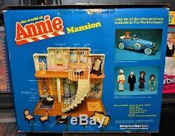 NEW 1981 The World of Annie vintage Mansion playset MIB Knickerbocker warbucks
