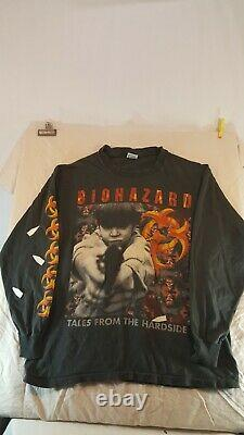 NEW PICS Vintage XL Long Sleeve withblems Tshirt Biohazard State Of The World Tour